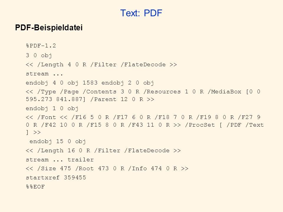 %PDF-1.2 Text: PDF PDF-Beispieldatei 3 0 obj
