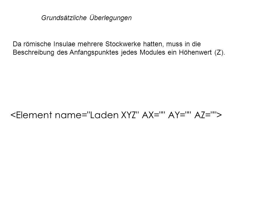 <Element name= Laden XYZ AX= AY= AZ= >