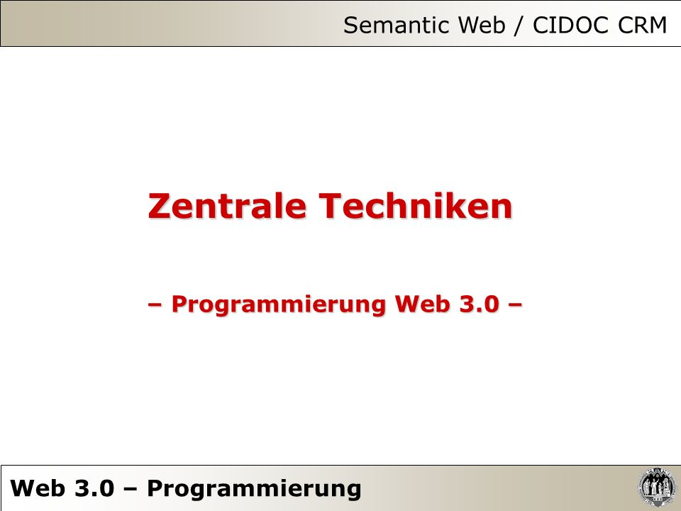 Semantic Web / CIDOC CRM