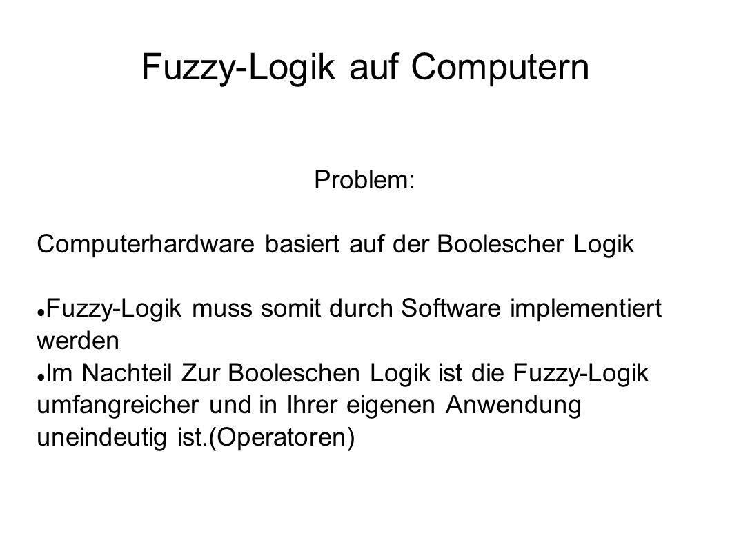 Fuzzy-Logik auf Computern