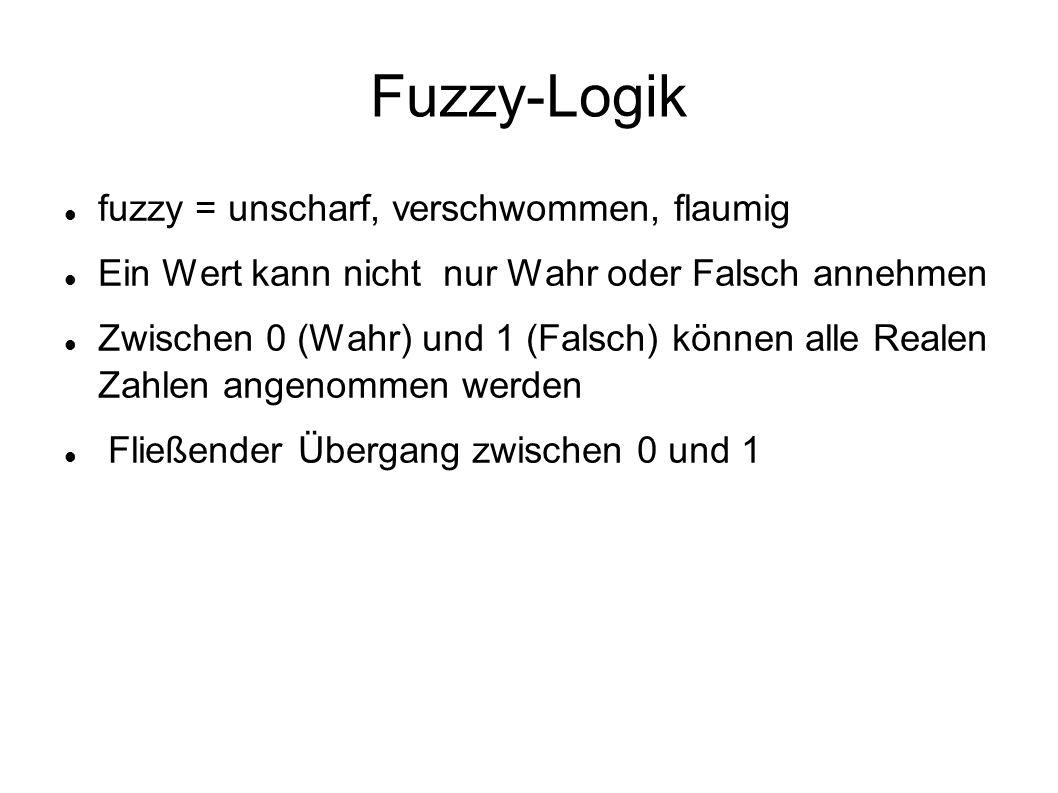 Fuzzy-Logik fuzzy = unscharf, verschwommen, flaumig