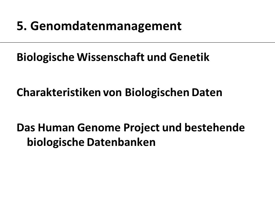 5. Genomdatenmanagement