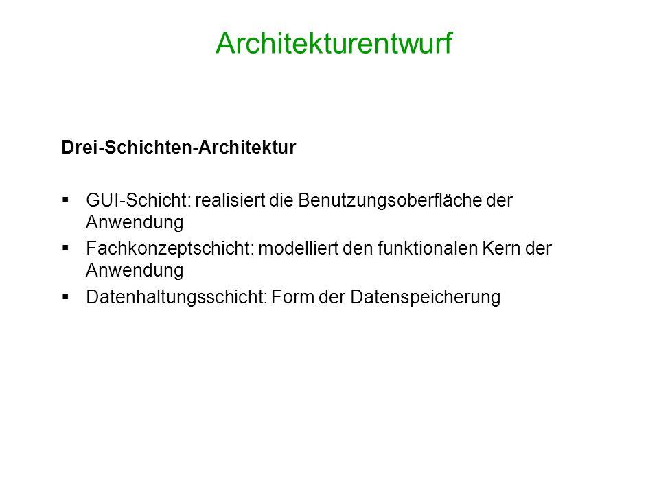 Architekturentwurf Drei-Schichten-Architektur