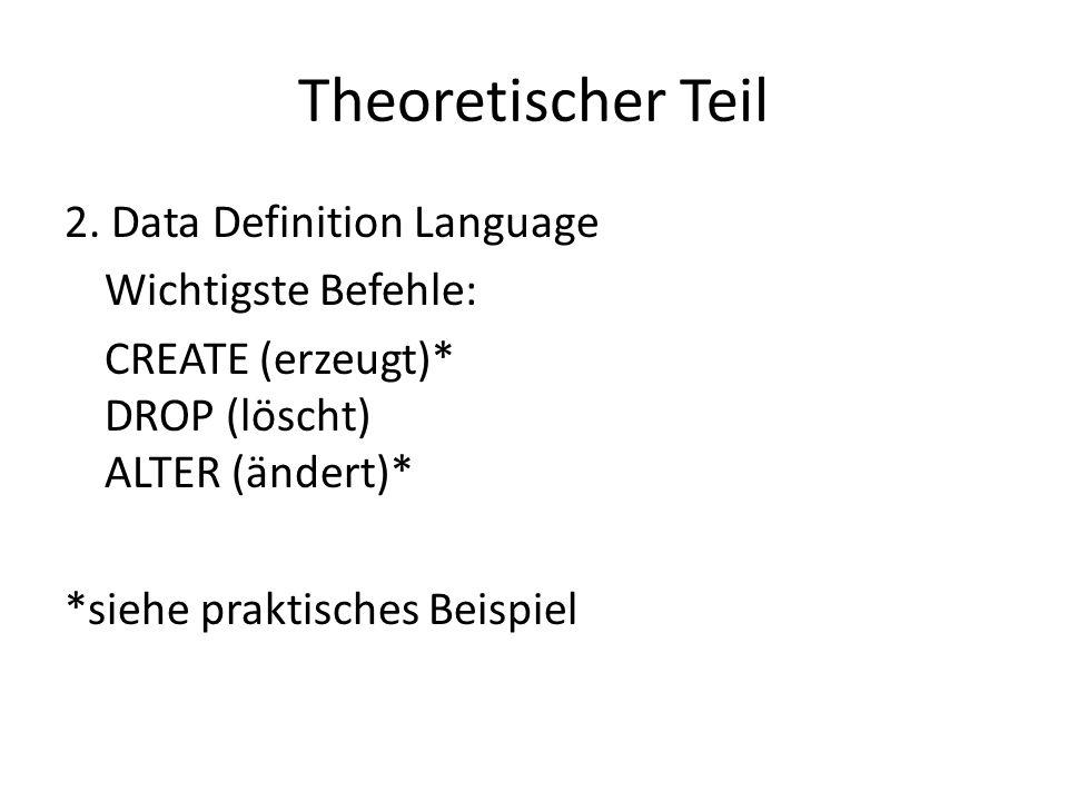 Theoretischer Teil 2.