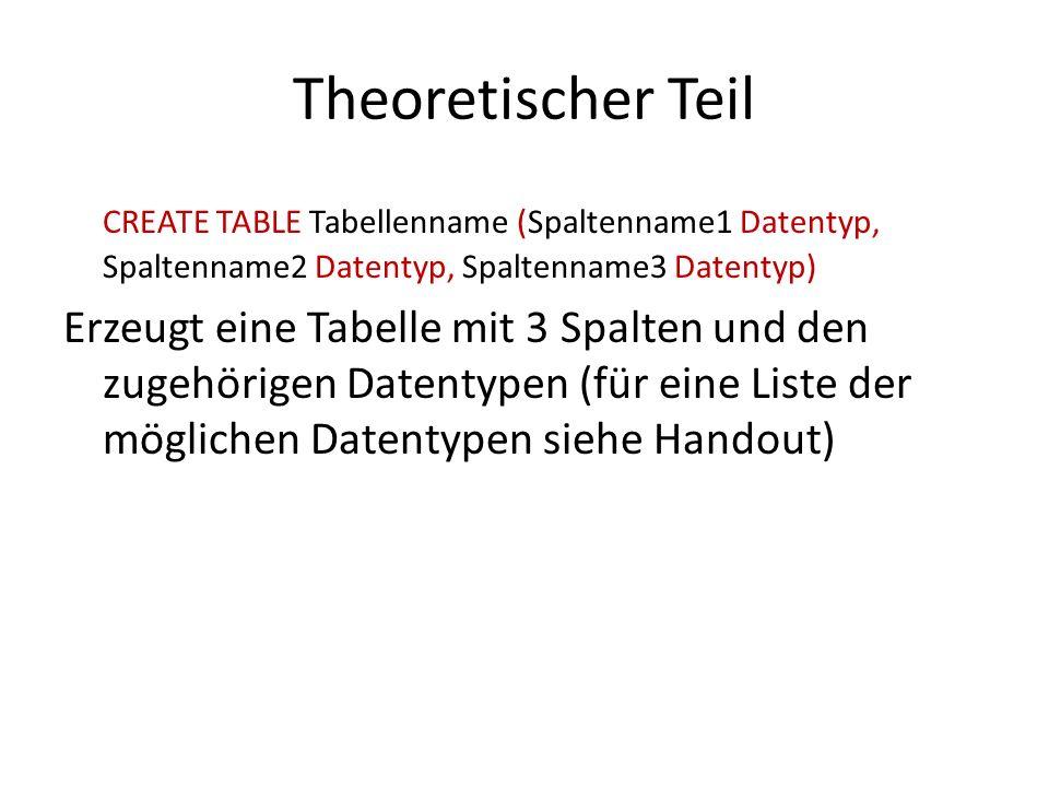 Theoretischer Teil