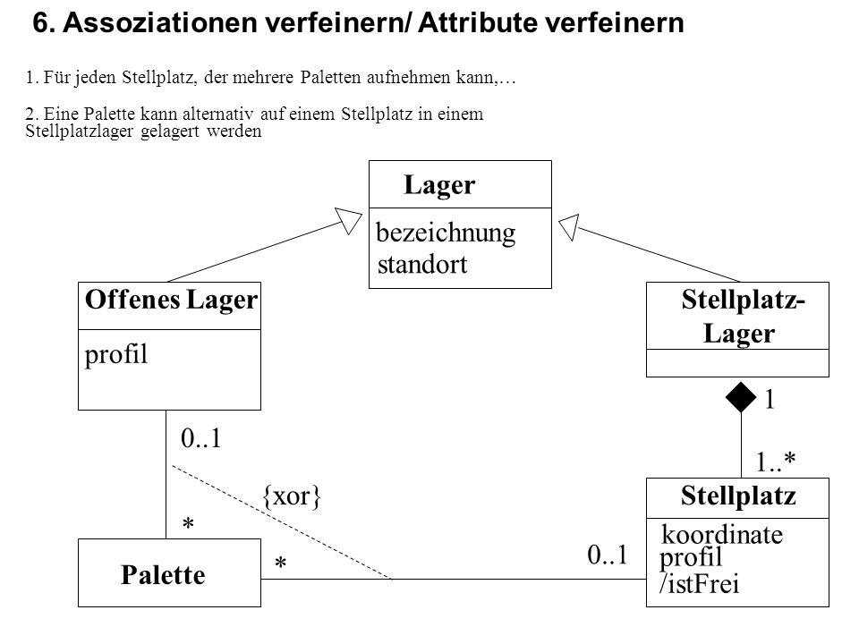 6. Assoziationen verfeinern/ Attribute verfeinern