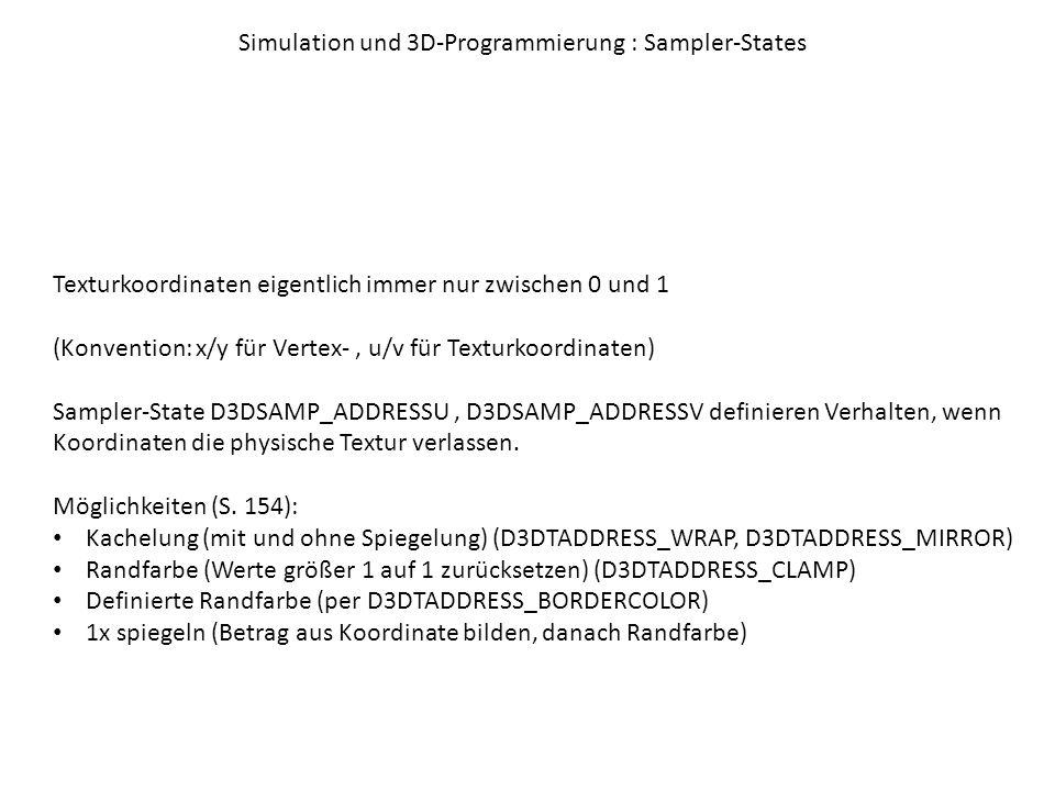 Simulation und 3D-Programmierung : Sampler-States