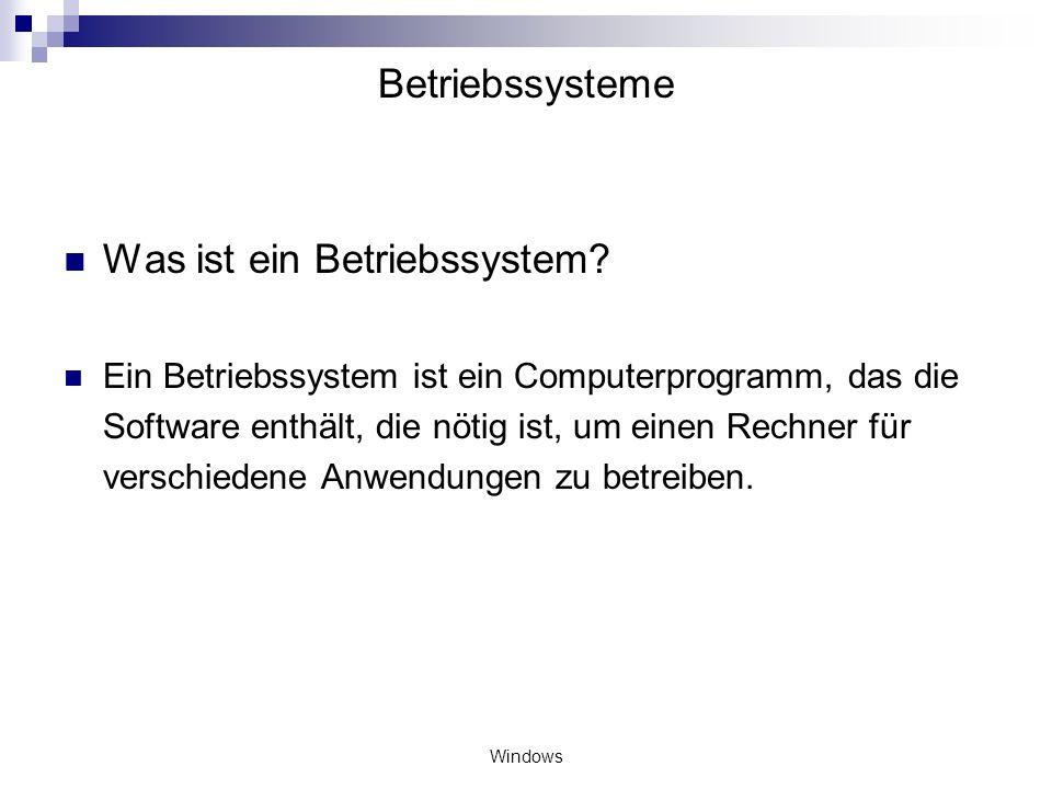 Was ist ein Betriebssystem