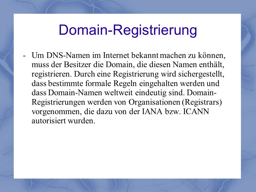 Domain-Registrierung