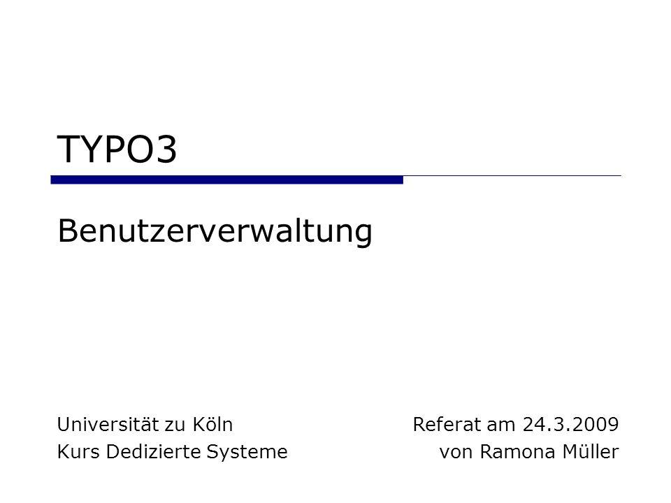 Universität zu Köln Kurs Dedizierte Systeme