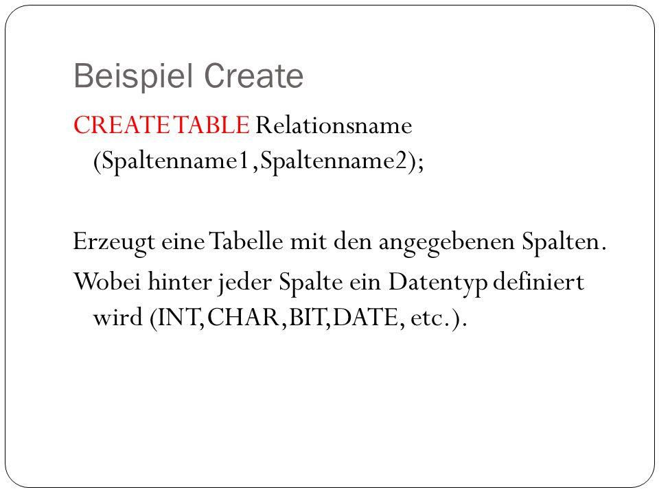Beispiel Create