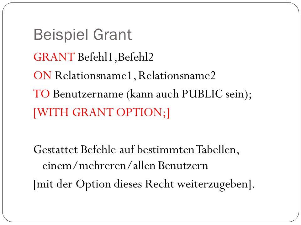 Beispiel Grant