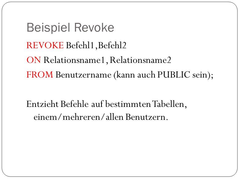 Beispiel Revoke