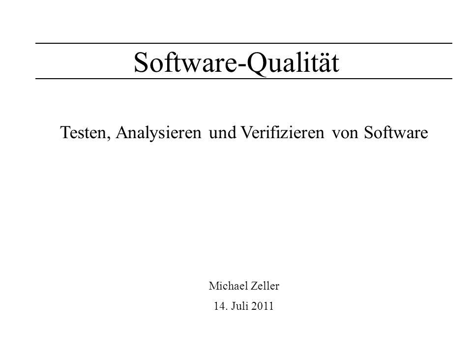 Testen, Analysieren und Verifizieren von Software