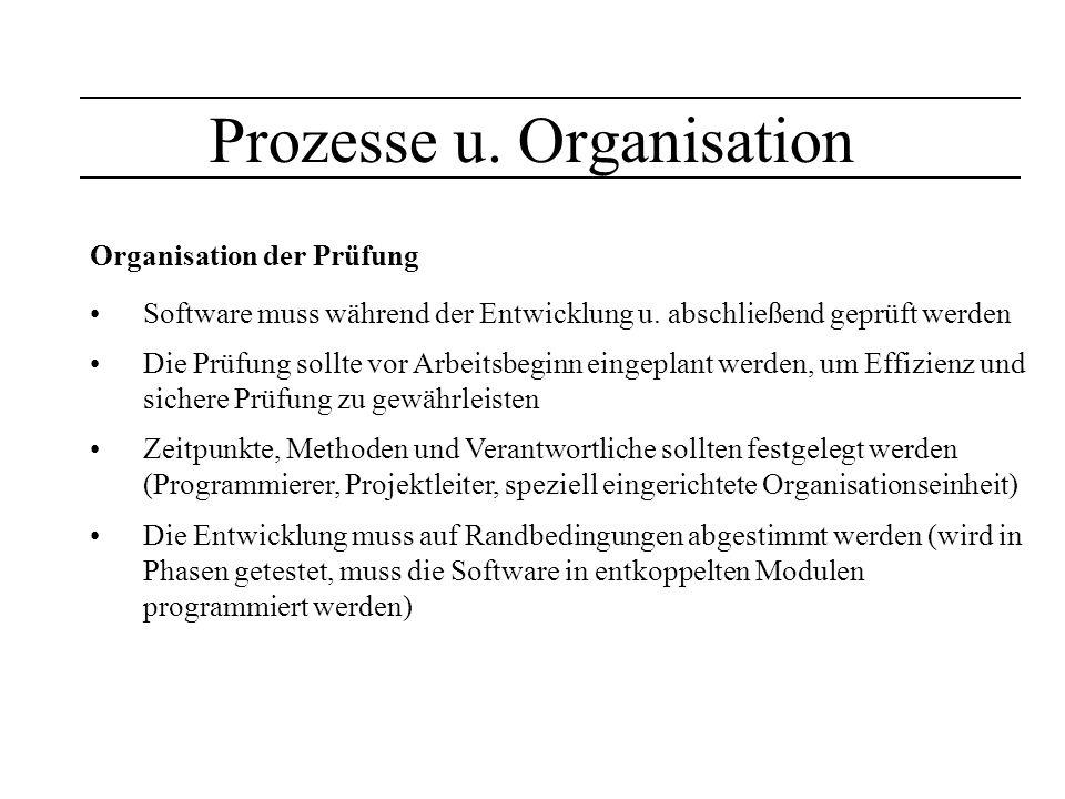 Prozesse u. Organisation
