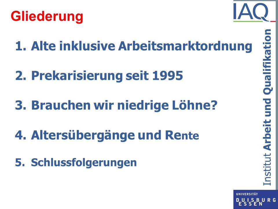Gliederung Alte inklusive Arbeitsmarktordnung Prekarisierung seit 1995