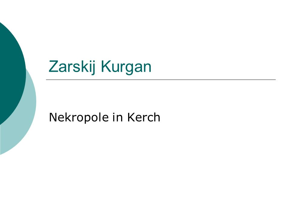 Zarskij Kurgan Nekropole in Kerch
