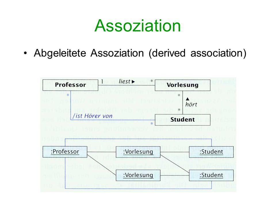 Assoziation Abgeleitete Assoziation (derived association)