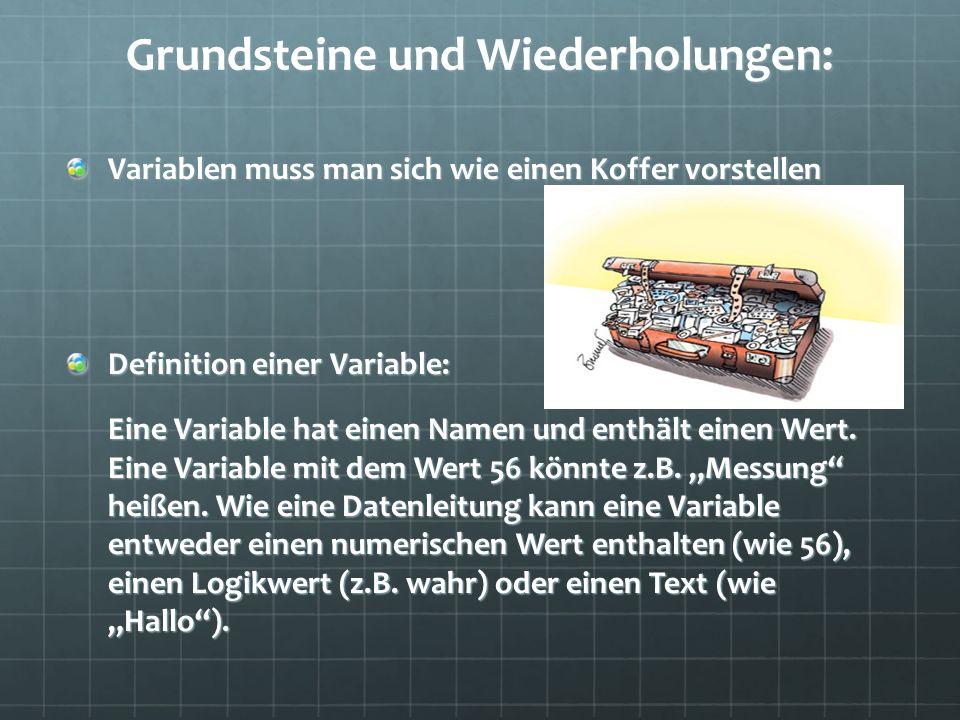 Grundsteine und Wiederholungen: