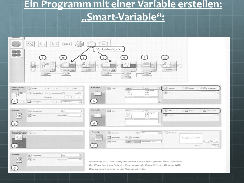 "Ein Programm mit einer Variable erstellen: ""Smart-Variable :"