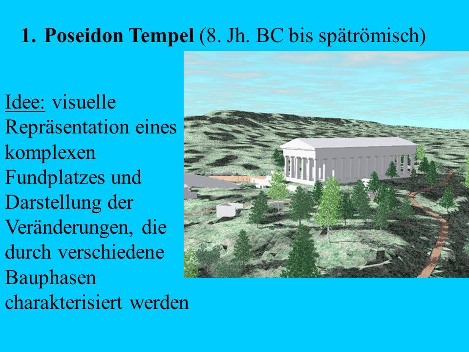 Poseidon Tempel (8. Jh. BC bis spätrömisch)