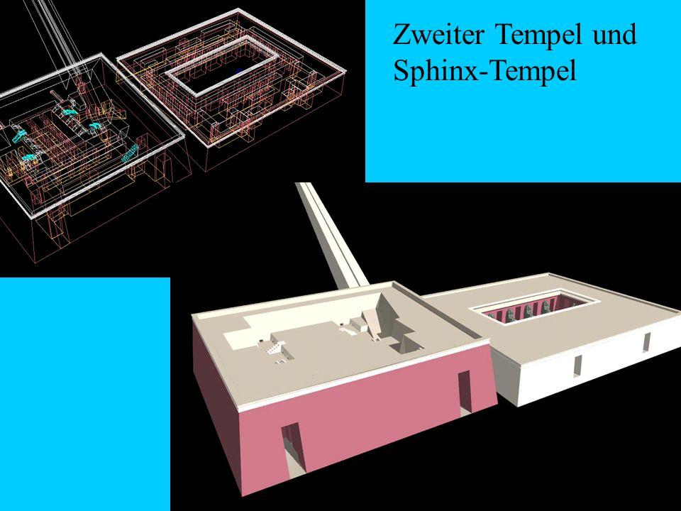 Zweiter Tempel und Sphinx-Tempel