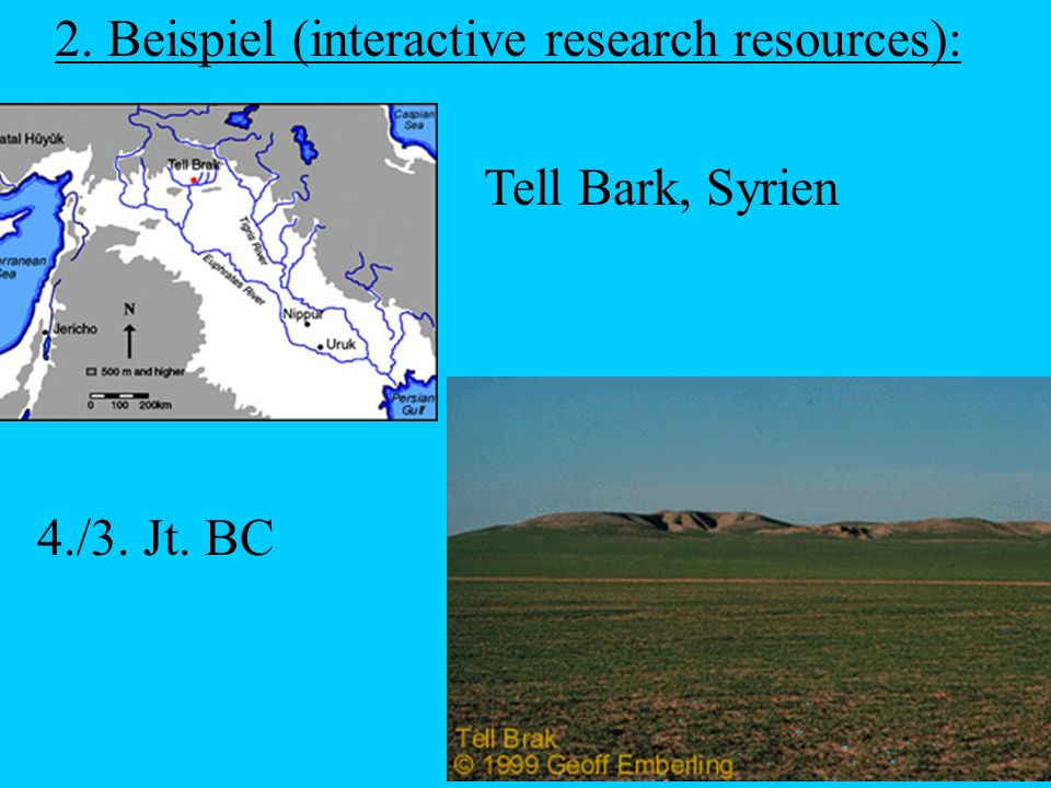 2. Beispiel (interactive research resources):