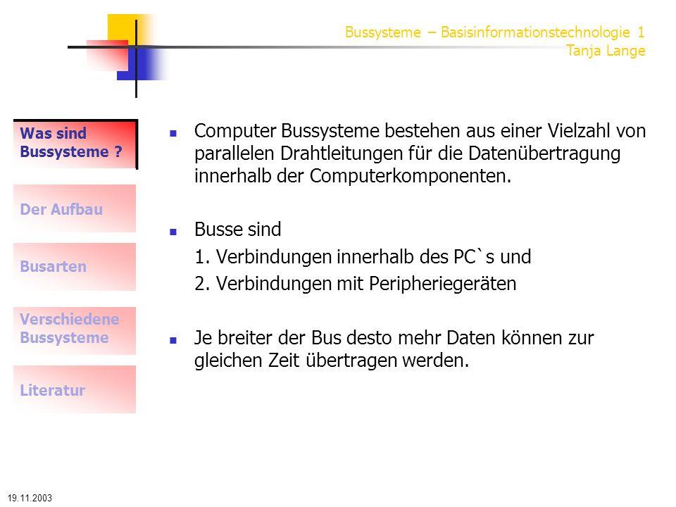 1. Verbindungen innerhalb des PC`s und