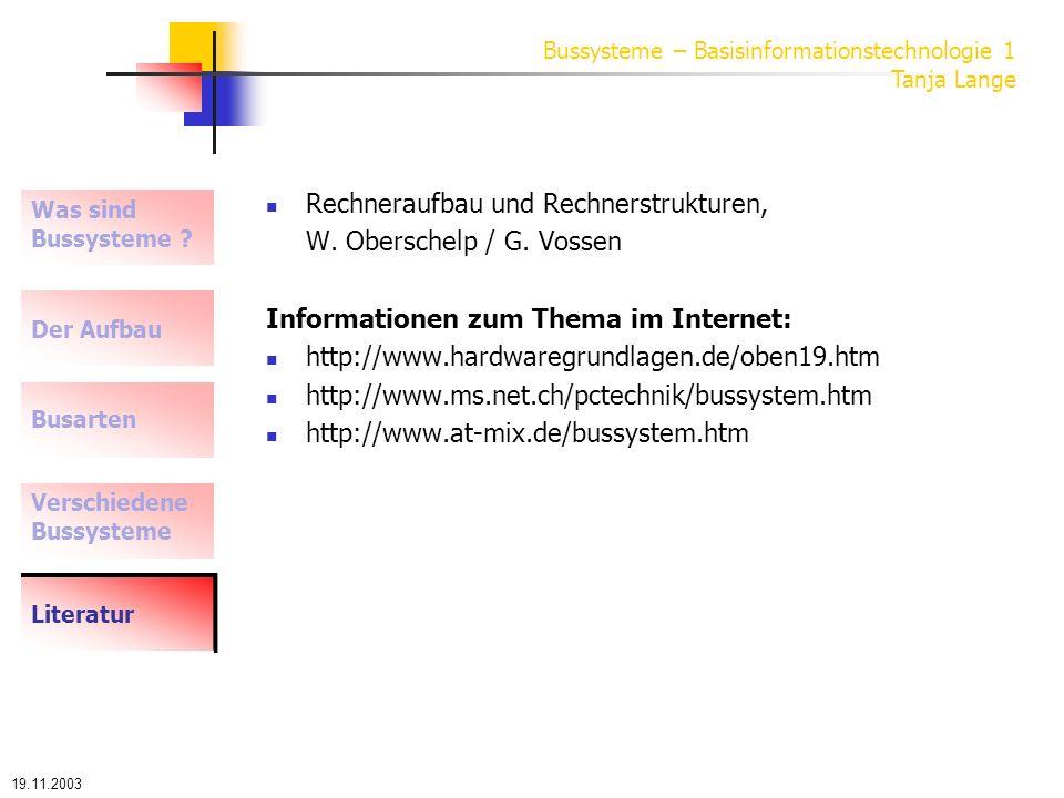 Rechneraufbau und Rechnerstrukturen, W. Oberschelp / G. Vossen