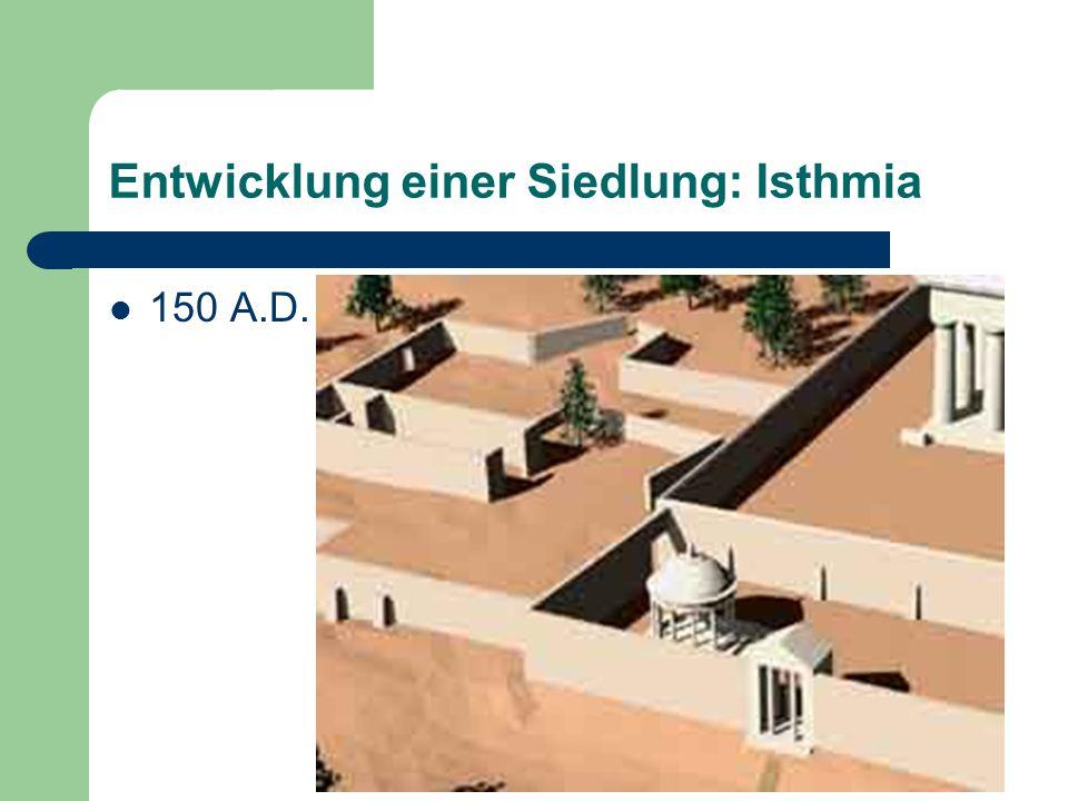 Entwicklung einer Siedlung: Isthmia