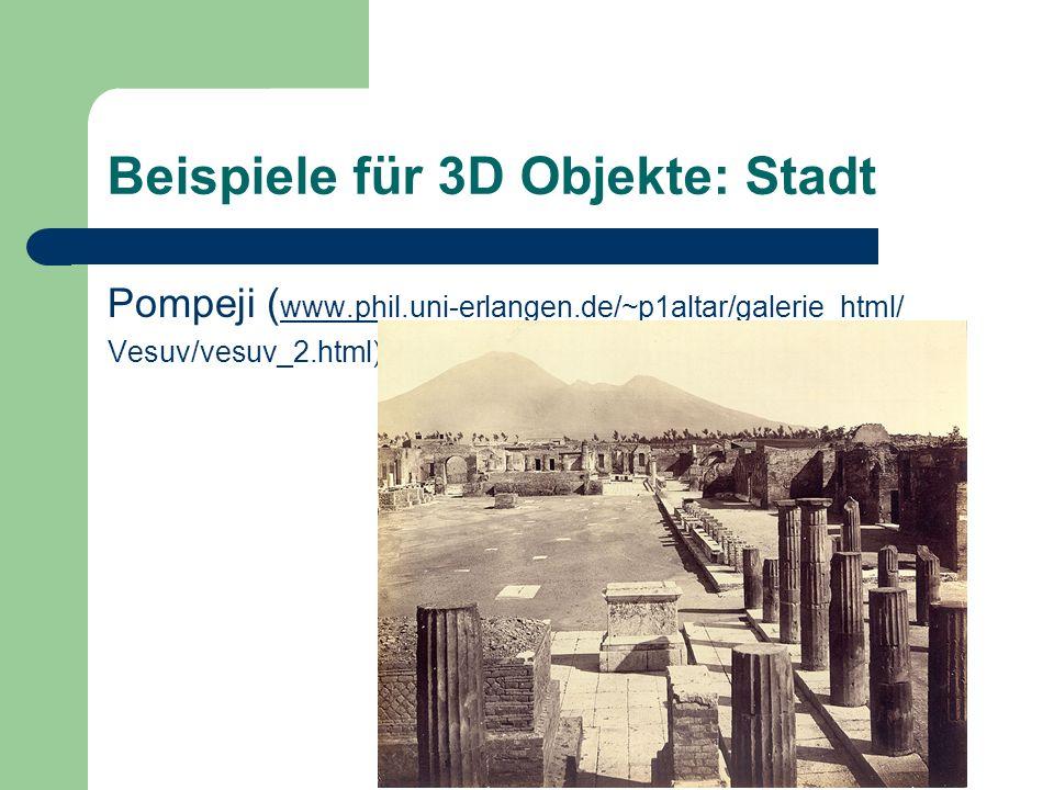 Beispiele für 3D Objekte: Stadt