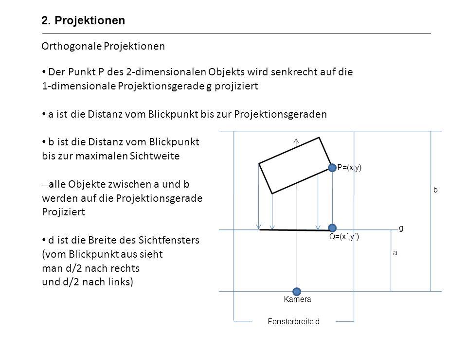 Orthogonale Projektionen
