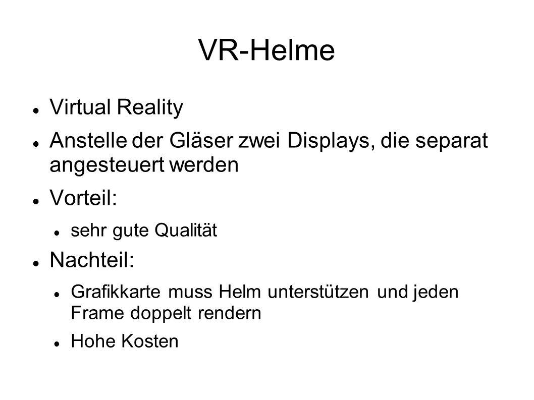 VR-Helme Virtual Reality