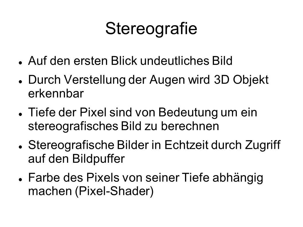 Stereografie Auf den ersten Blick undeutliches Bild