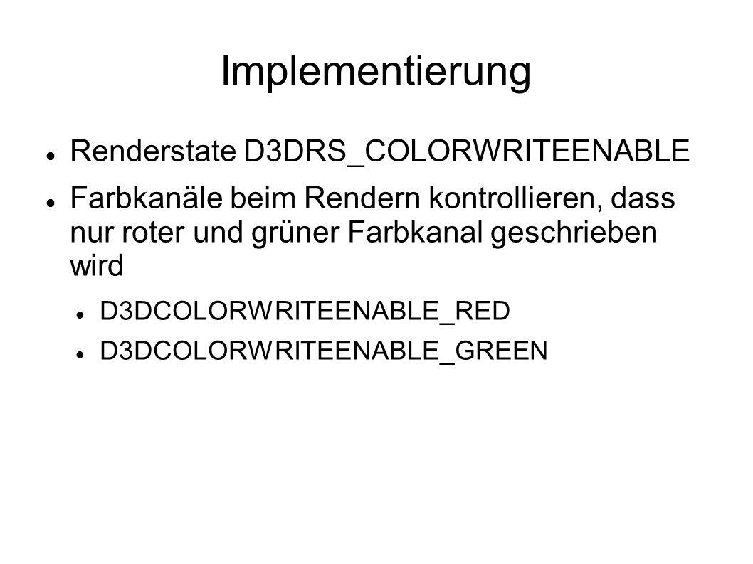Implementierung Renderstate D3DRS_COLORWRITEENABLE