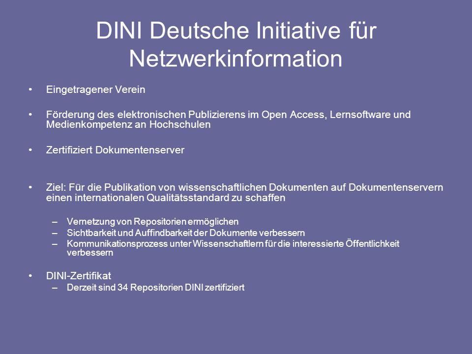 DINI Deutsche Initiative für Netzwerkinformation