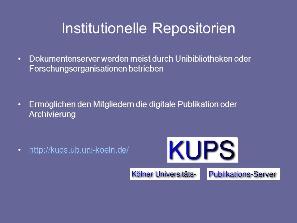 Institutionelle Repositorien