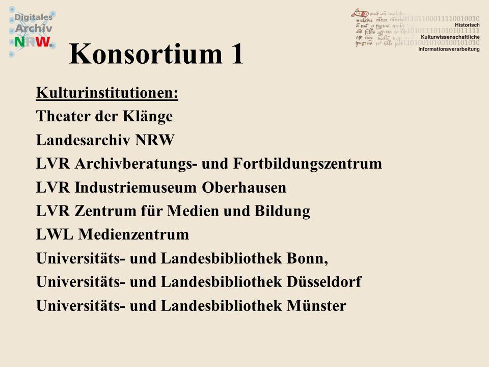 Konsortium 1 Kulturinstitutionen: Theater der Klänge Landesarchiv NRW