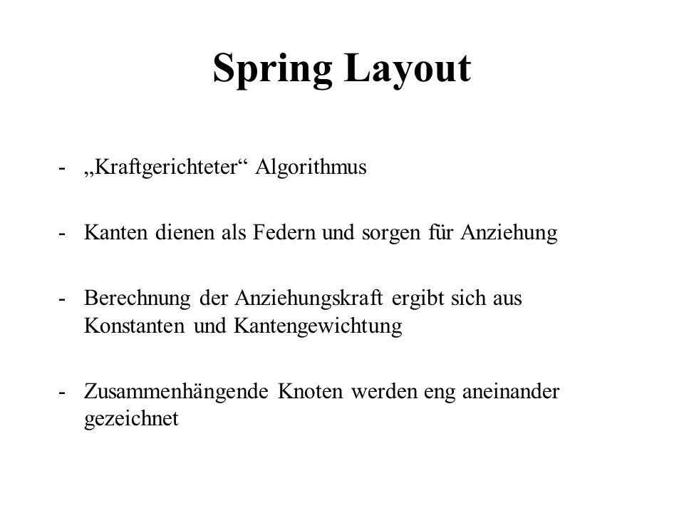 "Spring Layout ""Kraftgerichteter Algorithmus"
