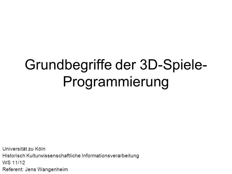 Grundbegriffe der 3D-Spiele-Programmierung