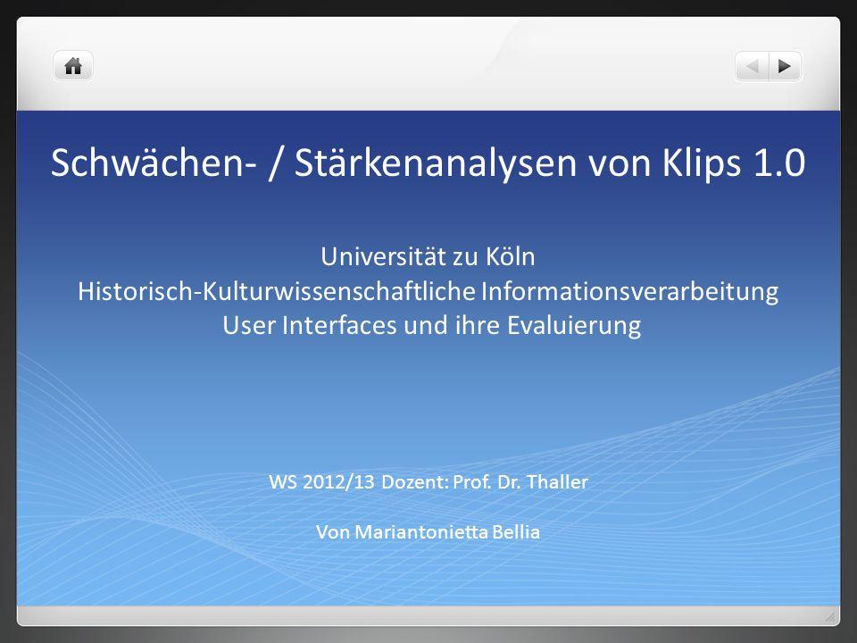 WS 2012/13 Dozent: Prof. Dr. Thaller Von Mariantonietta Bellia