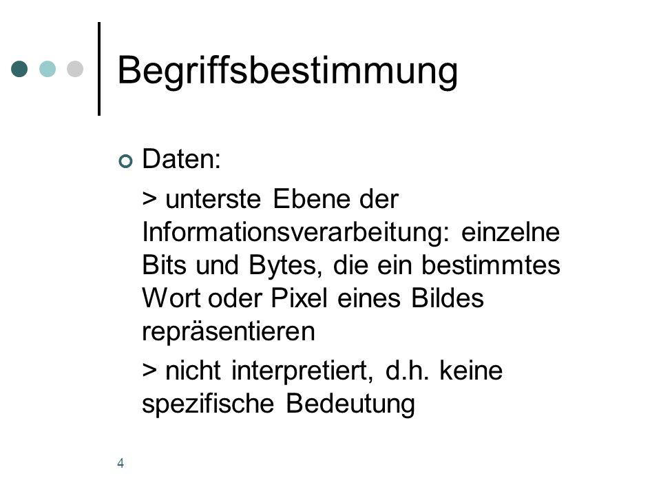 Begriffsbestimmung Daten: