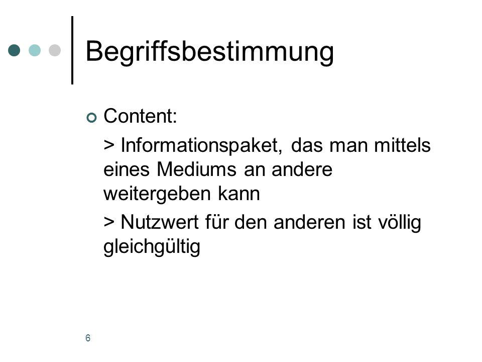 Begriffsbestimmung Content: