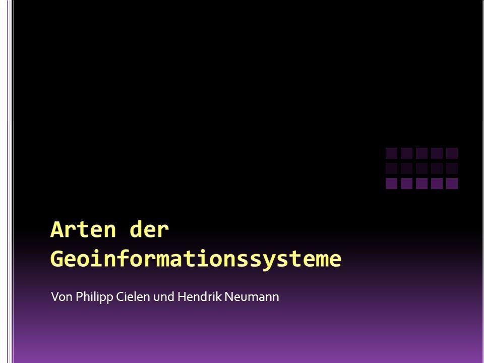 Arten der Geoinformationssysteme