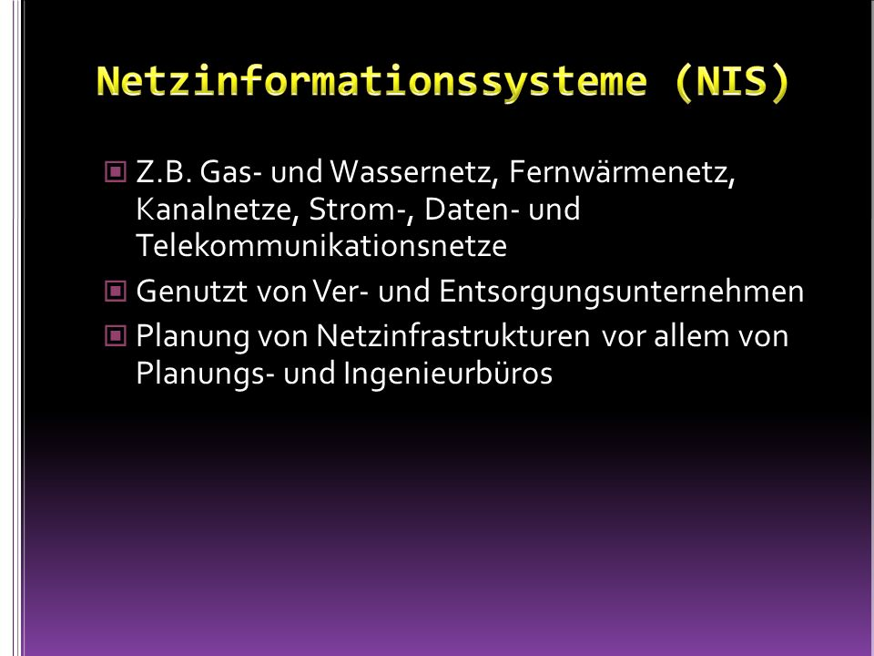 Netzinformationssysteme (NIS)