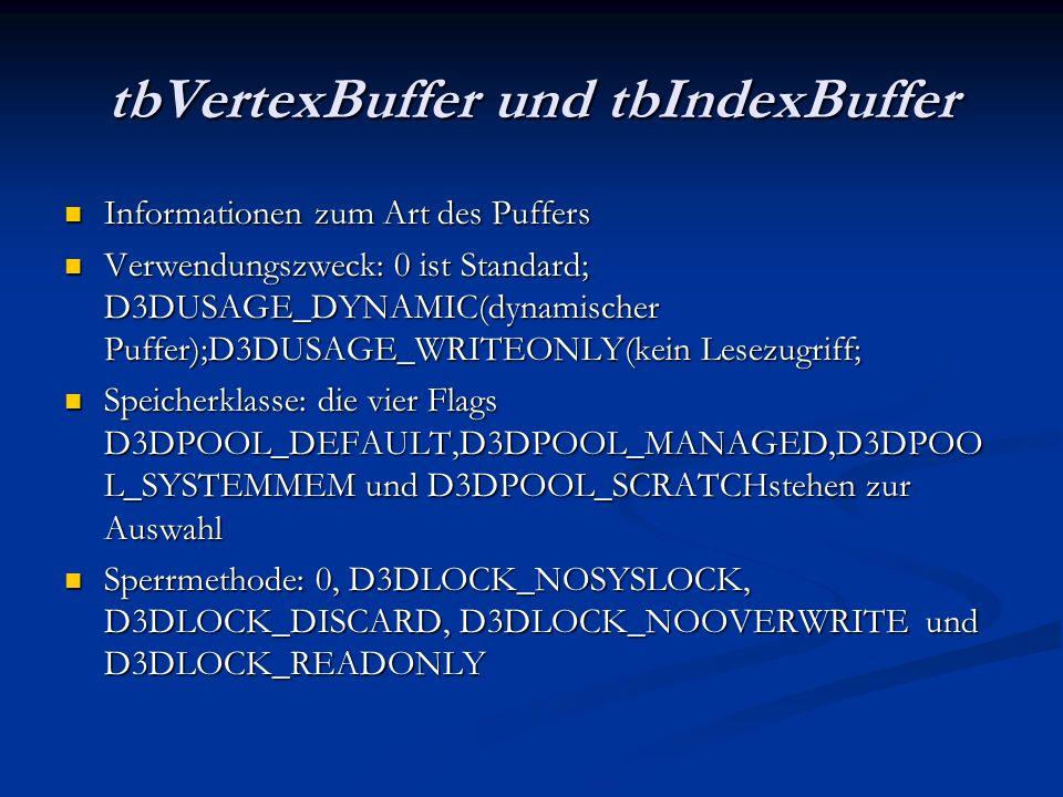 tbVertexBuffer und tbIndexBuffer