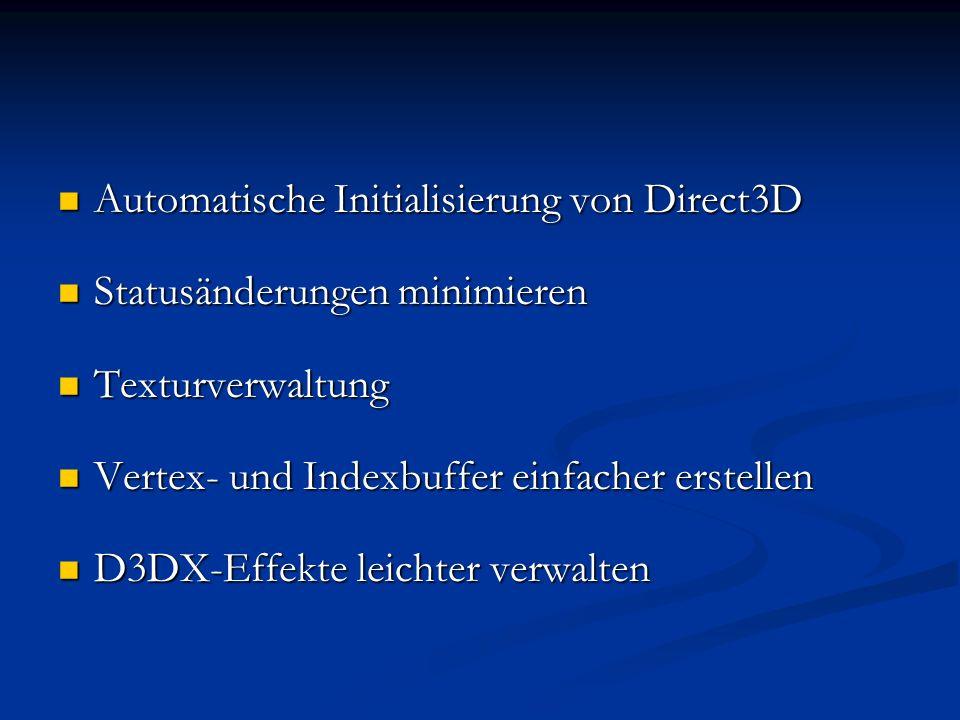 Automatische Initialisierung von Direct3D