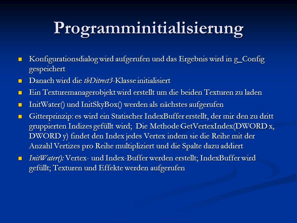 Programminitialisierung