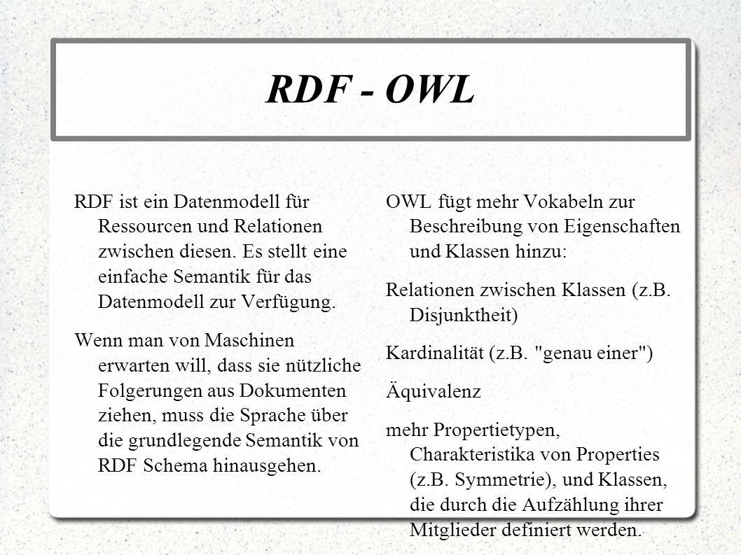 RDF - OWL