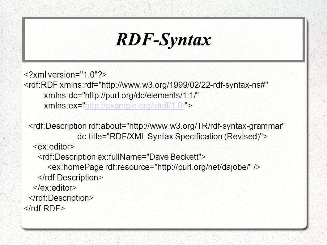 RDF-Syntax < xml version= 1.0 >